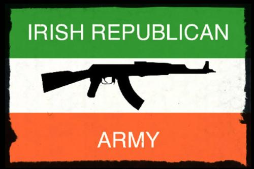 Irish Republican Army (IRA) Rifle Flag [Twitter]