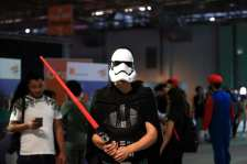 Participants are seen during the 'Comic Con Tunisia 2018' fair in Tunis, Tunisia on 11 June, 2018 [Yassine Gaidi/Anadolu Agency]