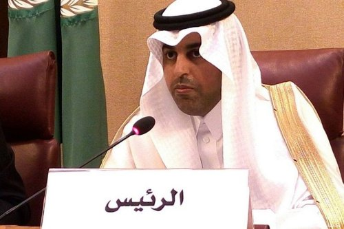 Arab Parliament speaker, Mishaal Al-Salami [Middle East News Agency/Facebook]