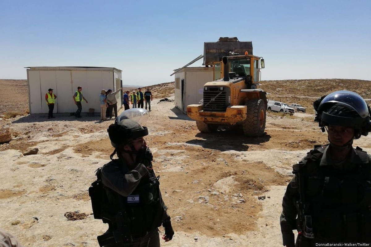 Israel demolishes Palestinian school near Hebron