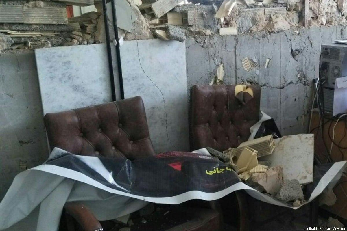 The aftermath of an earthquake that took place in Iran [Gulbakh Bahrami/Twitter]