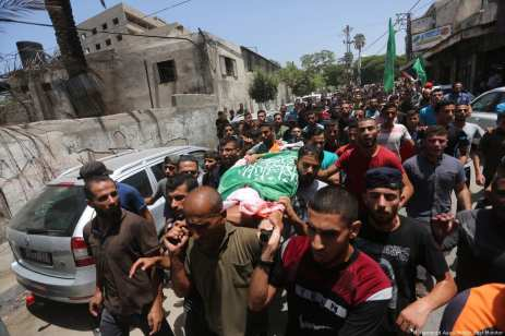 Funeral of the Palestinians who were killed by Israeli fire in the Gaza Strip [Mohammed Asad/Middle East Monitor]