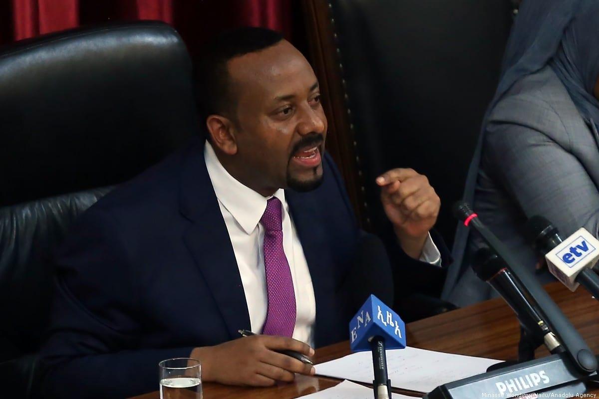 Ethiopian Prime Minister Abiy in Addis Ababa, Ethiopia [Minasse Wondimu Hailu/Anadolu Agency]
