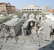 Major damage to arts centre and children's facilities from latest Israeli airstrike on Gaza