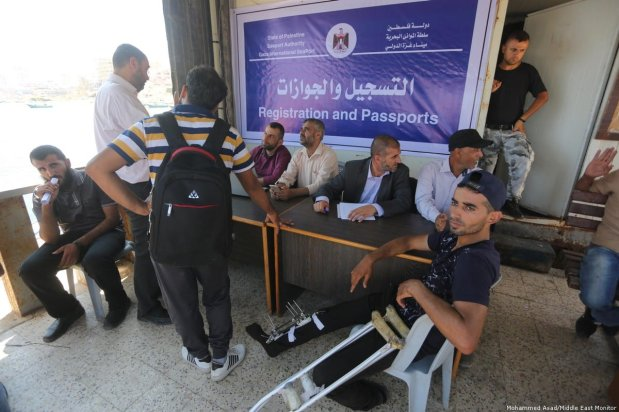 Palestinians from Gaza have launched a Freedom 2 carrying wounded Palestinians and students [Mohammed Asad/Middle East Monitor]