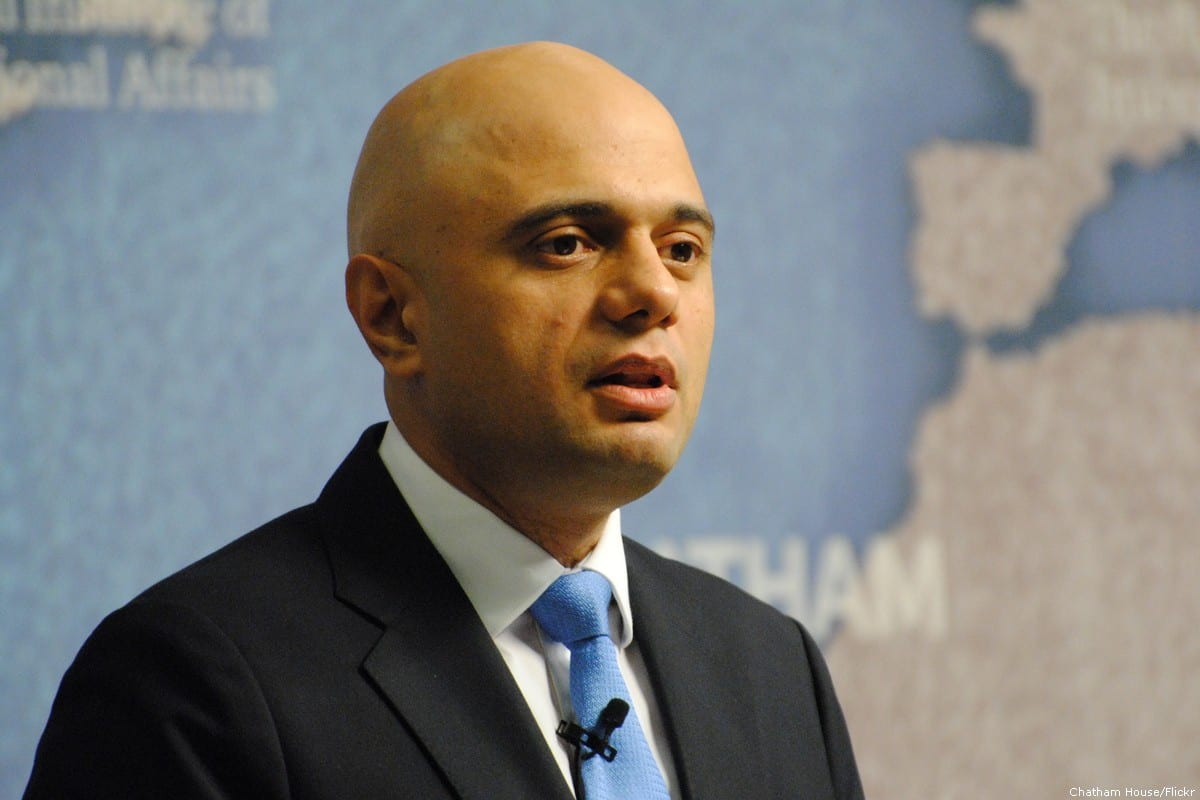 Sajid Javid, the UK's home secretary