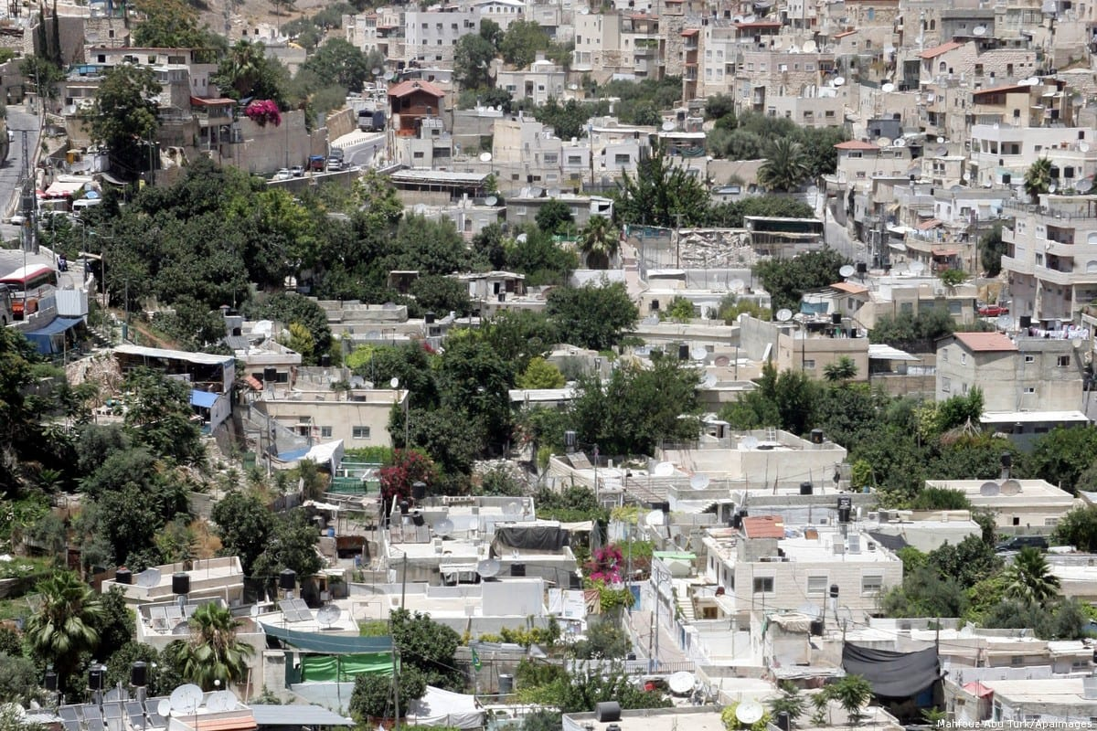 General view to the east Jerusalem neighbourhood of Silwan [Mahfouz Abu Turk/Apaimages]