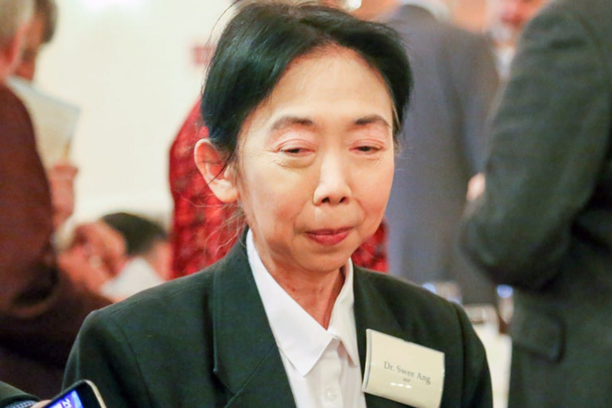 Founding Trustee of Medical Aid for Palestinians (MAP) Dr Swee Chai Ang