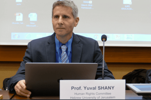 Yuval Shany, deputy president of the Israel Democracy Institute and a member of the Hebrew University of Jerusalem's Faculty of Law [Twitter]