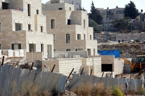 A Jewish settlement can be seen in Jerusalem [Mahfouz Abu Turk/Apaimages]