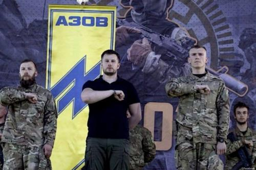 A neo-Nazi group in Ukraine [Facebook]
