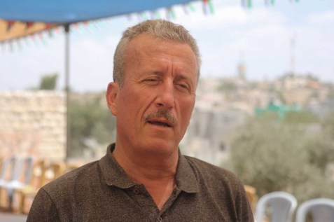 Palestinian teenager Ahed al-Tamimi's father Basim Tamimi makes a speech during an exclusive interview in Nabi Salih village of Ramallah, West Bank on 2 August, 2018 [İssam Rimawi/Anadolu Agency]