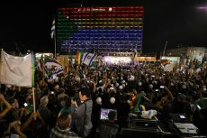 "Thousands of demonstrators from the Druze community stage a protest against the ""Jewish Nation-State"" law that was approved last month by the Israel's parliament, at Rabin Square in Tel Aviv, Israel on August 04, 2018 [Daniel Bar On / Anadolu Agency]"