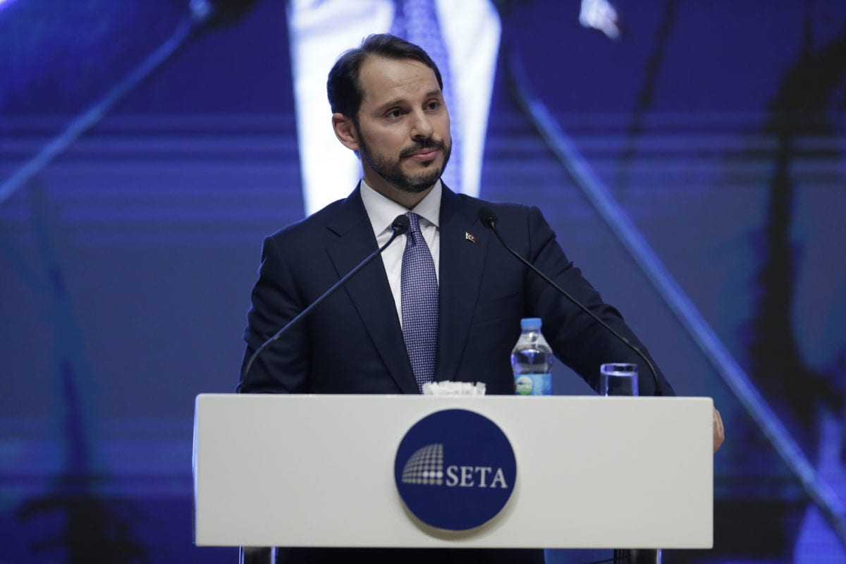 Turkish Treasury and Finance Minister Berat Albayrak in Ankara, Turkey [Metin Aktas/Anadolu Agency]