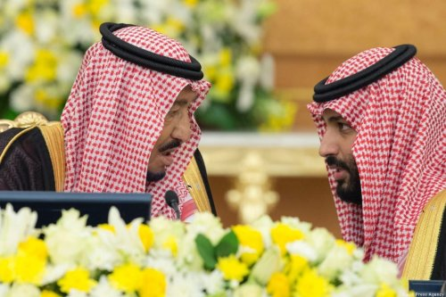 King of Saudi Arabia Salman Bin Abdulaziz (L) and Crown Prince Mohammad Bin Salman [Saudi Press Agency]