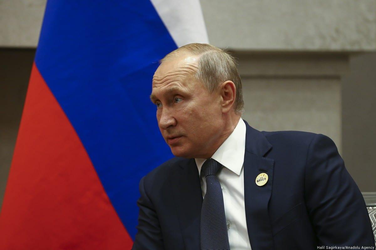 Russian President Vladimir Putin [Halil Sağırkaya/Anadolu Agency]