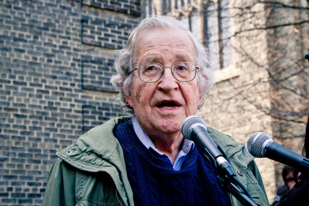 Linguist and prominent intellectual Noam Chomsky - (Flickr)