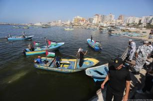 Freedom Ship 3 has departed from Gaza port [Mohammed Asad/Middle East Monitor]