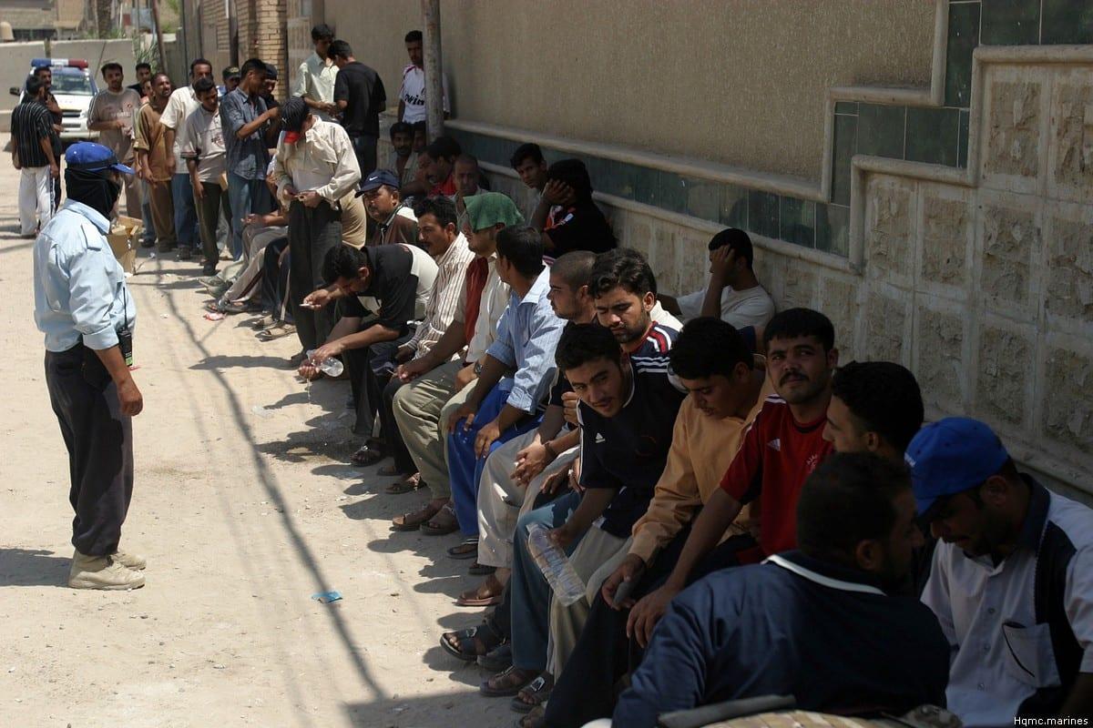 Iraqi men in the district of Fallujah, Iraq [Hqmc.marines]