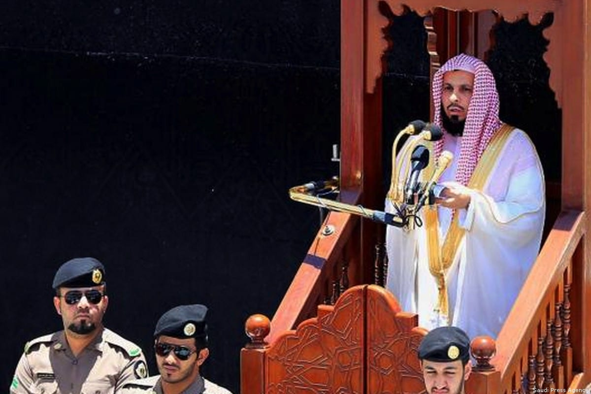 Sheikh Saleh Al-Talib, imam and preacher of the Grand Mosque in Makkah [Saudi Press Agency]