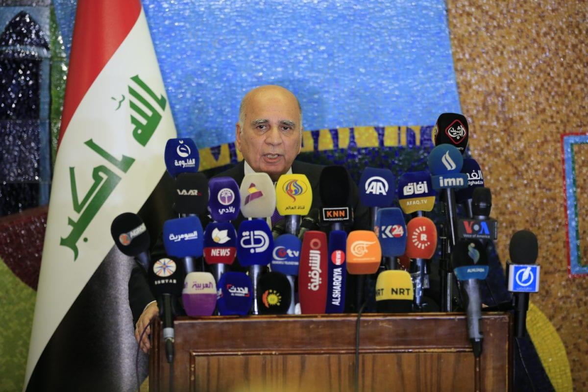 Iraqi Foreign Minister Fuad Hussein in Baghdad, Iraq on 25 September 2018 [Haydar Karaalp/Anadolu Agency]