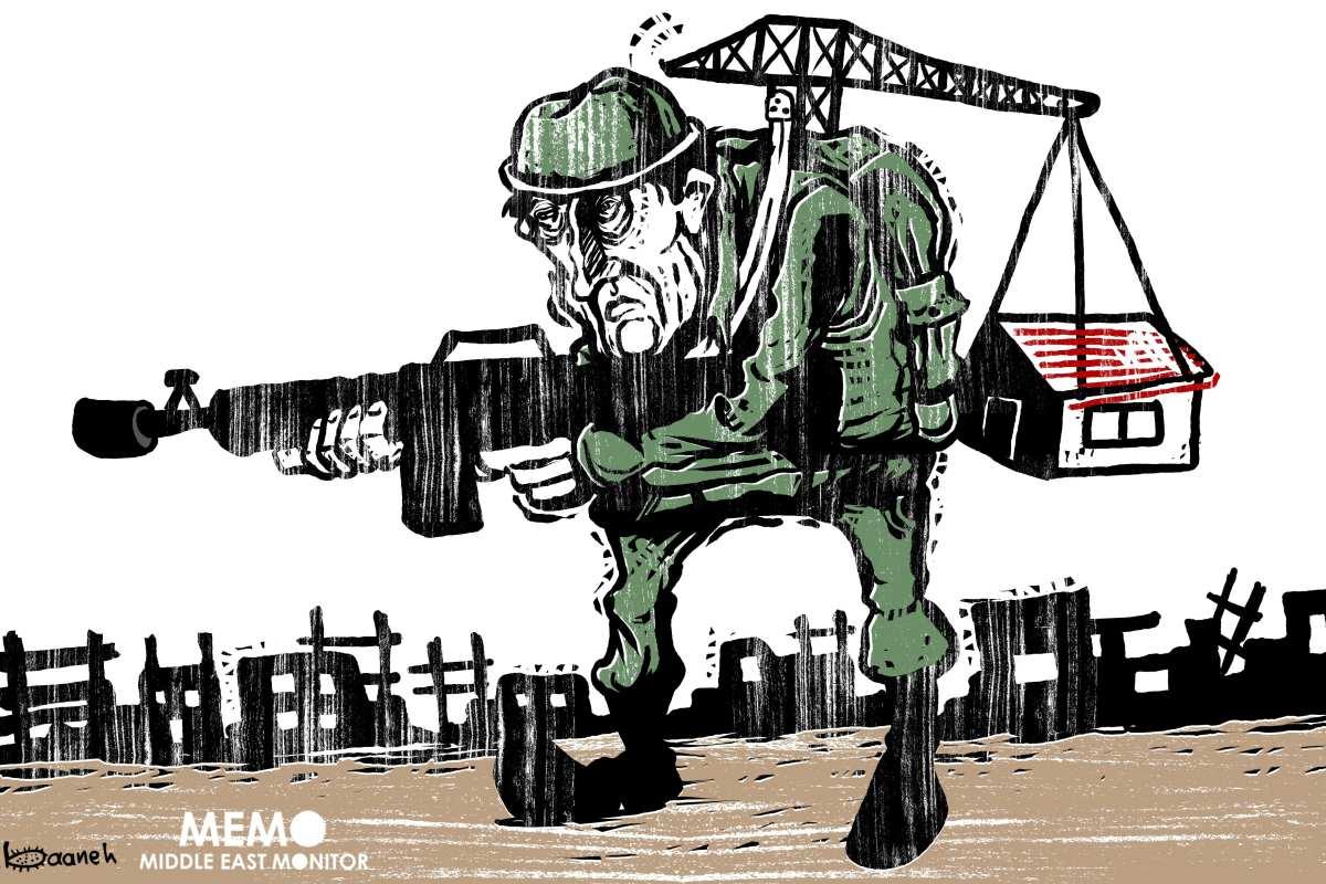 More Israeli settlements in Palestine - Cartoon [Sabaaneh/MiddleEastMonitor]