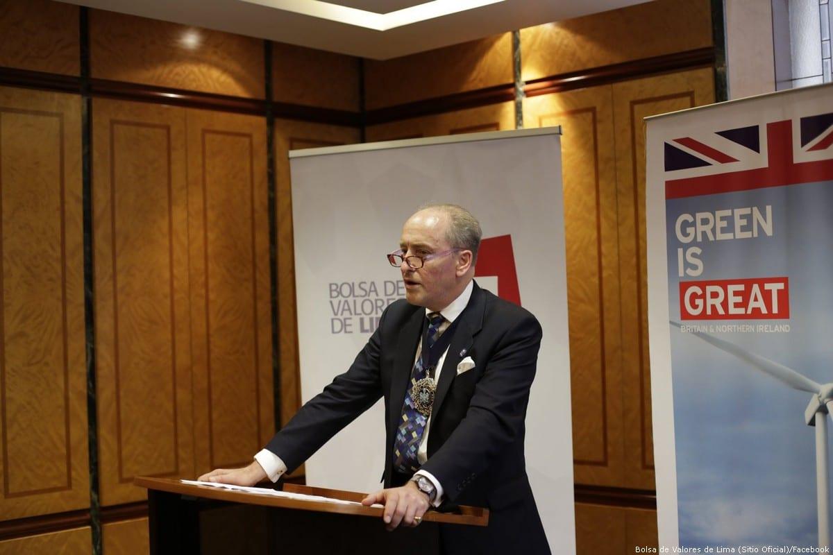 Charles Bowman, Lord Mayor of the City of London [Bolsa de Valores de Lima (Sitio Oficial)/Facebook]