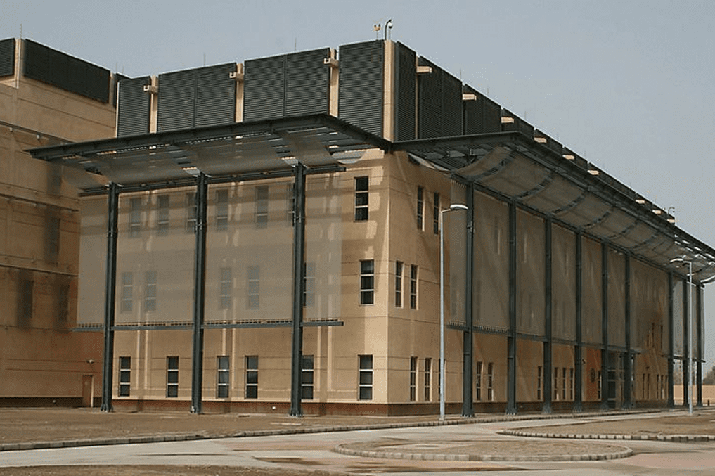 US embassy in Baghdad - [Wikipedia]