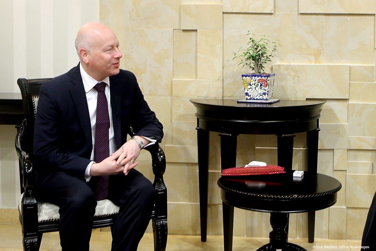 US special envoy to the peace process, Jason Greenblatt [Prime Minister Office/Apaimages]
