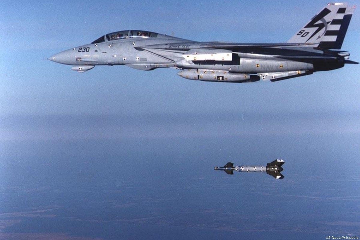 A laser-guided bomb [US Navy/Wikipedia]