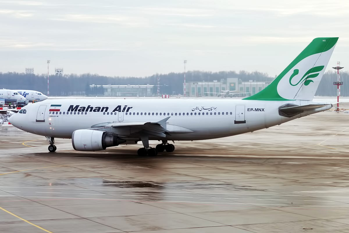 File photo of a Mahan Air plane
