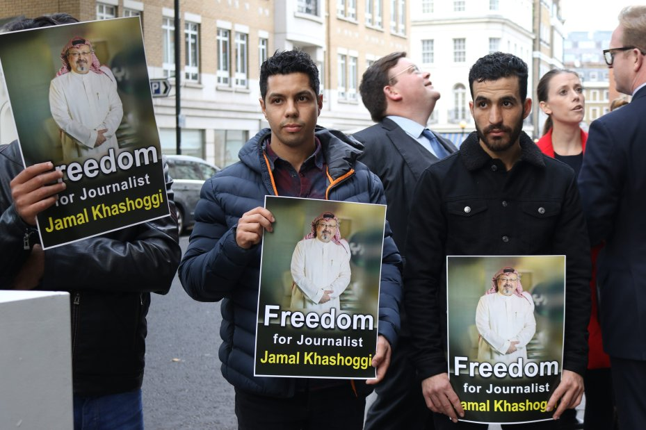 Saudi Embassy Press Conference in London [Jehan Alfarra/Middle East Monitor]