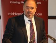 Al-Sharq Forum Director Wadah Khanfar speaks about his friend Saudi journalist Jamal Khashoggi in London on 29 October 2018 [Jehan Alfarra/Middle East Monitor]
