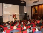 Audience members listen as activists honour Saudi journalist Jamal Khashoggi [Jehan Alfarra/Middle East Monitor]