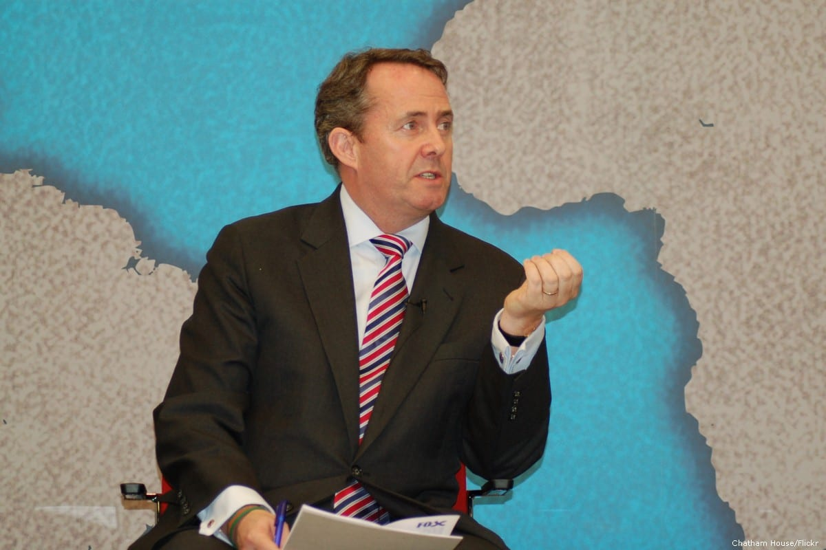 UK's International Trade Secretary Liam Fox on 29 March 2015 [Chatham House/Flickr]