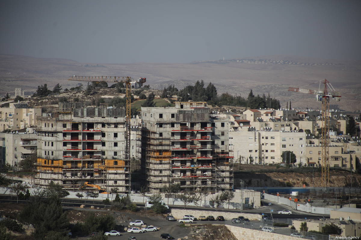A view of construction works in a Jewish settlement in Jerusalem on 4 October 2018 [Mostafa Alkharouf/Anadolu Agency]