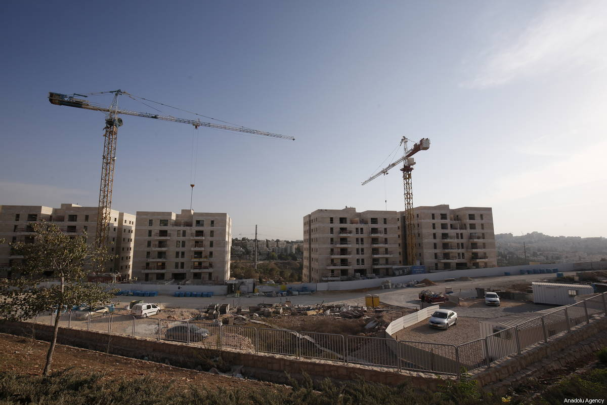 A view of construction works in Ramot, a Jewish settlement in East Jerusalem on October 04, 2018 [Mostafa Alkharouf / Anadolu Agency]