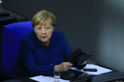German Chancellor Angela Merkel attends a session at the German Parliament (the Bundestag) in Berlin, Germany on 17 October 2018 [Abdülhamid Hoşbas/Anadolu Agency]