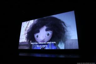 The Tower' by Mats Grorud screened at Palestine Cinema Days festival, Ramallah 17 October 2018 [Hamde Abu Rahma/Middle East Monitor]