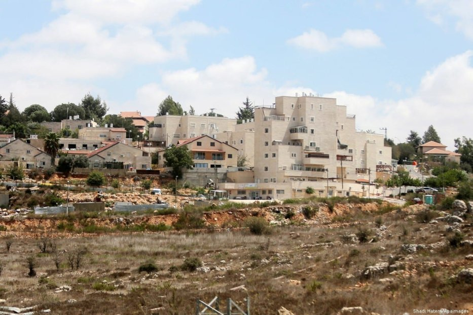 A general view of the Jewish settlement in the West Bank on 27 August 2018 [Shadi Hatem/Apaimages]