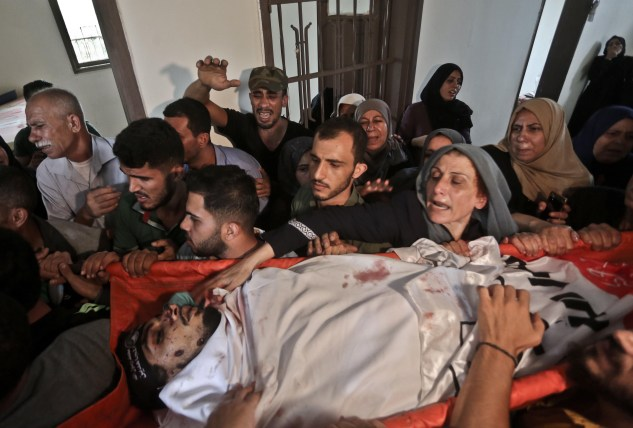 Ashraf Al-Qudra, 25-year-old Naji Jamal Al-Za'anin was killed in the northern Gaza Strip [Mohammed Asad/Middle East Monitor]
