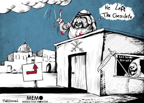 Where is Jamal Khashoggi?... - Cartoon [Sabaaneh/MiddleEastMonitor]