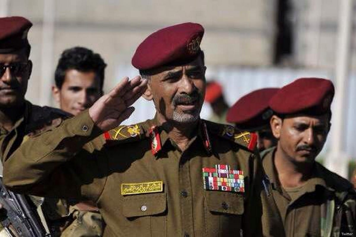 Detained Yemeni Defence Minister Major General Mahmoud Al-Subaihi [Twitter]