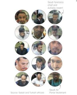 Suspects in the killing of Jamal Khashoggi (Twitter)