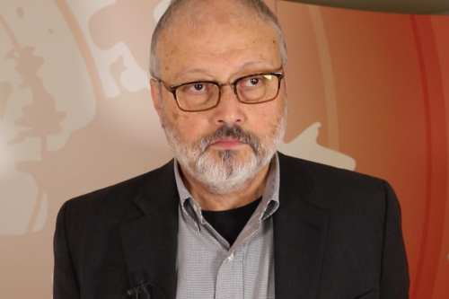 Saudi journalist Jamal Khashoggi at the 25th anniversary of the Oslo Accords, MEMO hosted a conference in London, UK on 29 September 2018 [Jehan Alfarra/Middle East Monitor]