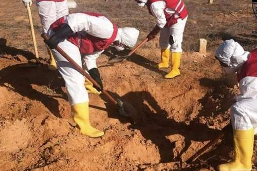 Mass grave discovered in Libya on 11 October 2018 [TOS TV Network/Facebook]