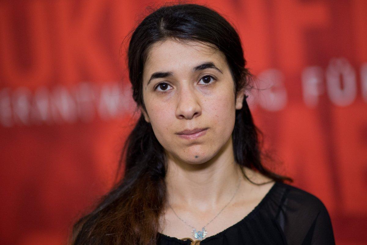 Human rights activist and 2018 Nobel Prize, Nadia Murad Bansee Taha in Germany on 31 May 2016 [Apaimages]