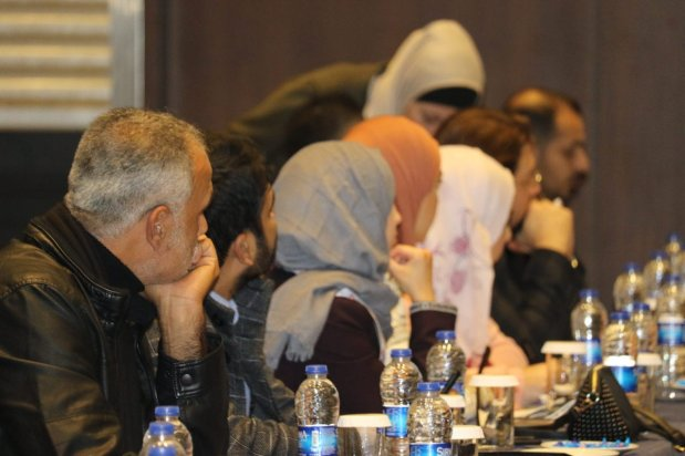 Workshops are held at the Palestine Media Forum in Istanbul, Turkey, on 17 November 2018 [Jehan Alfarra/Middle East Monitor]