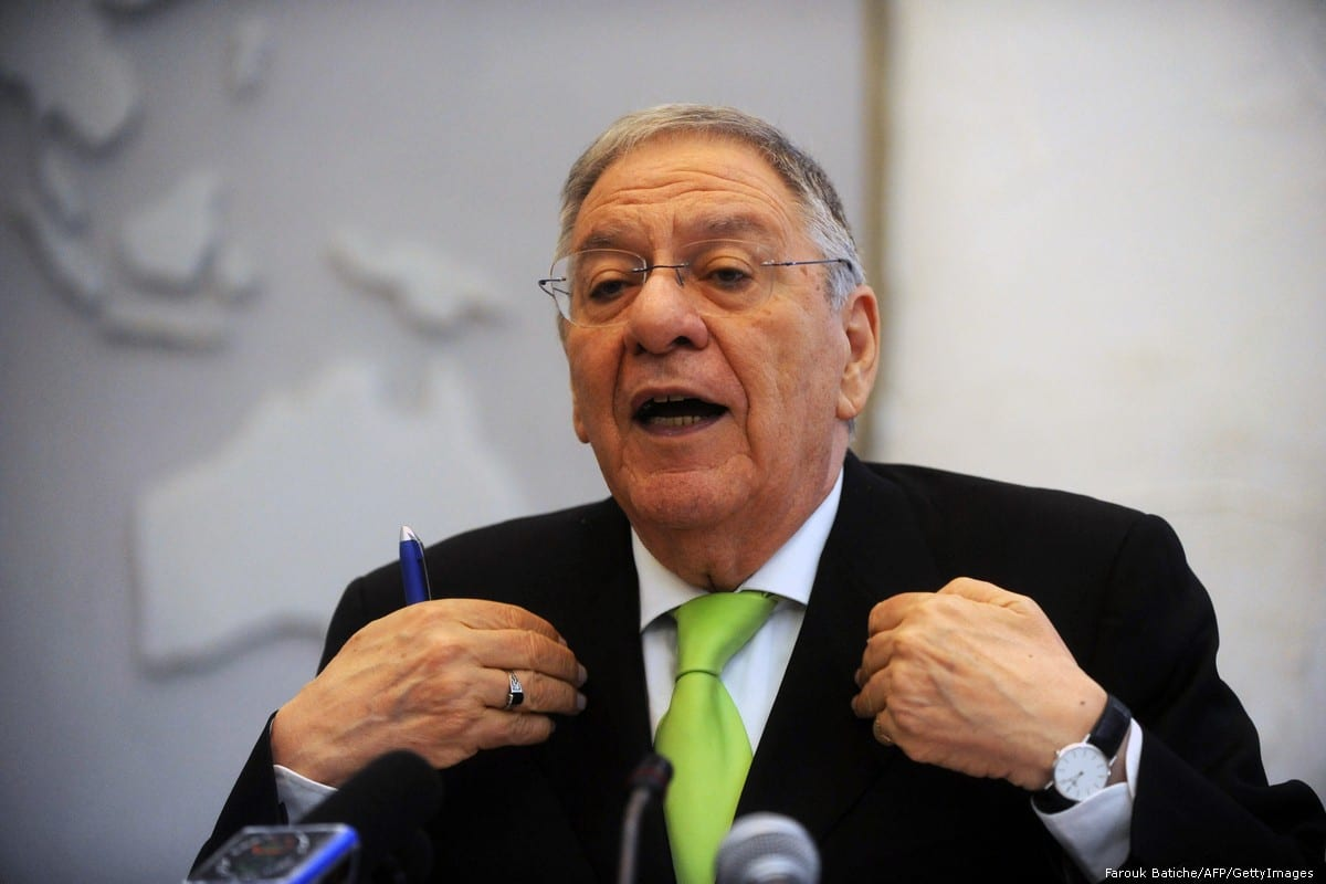 Former Secretary-General of Algeria's ruling National Liberation Front (FLN) Djamel Ould Abbes in Algiers, Algeria on 11 May 2012 [Farouk Batiche/AFP/GettyImages]