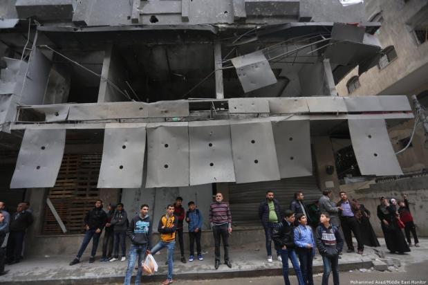 Repeated air strikes on Gaza have become a norm for Palestinians. 14 November 2018, Gaza [Mohammed Asad/Middle East Monitor]